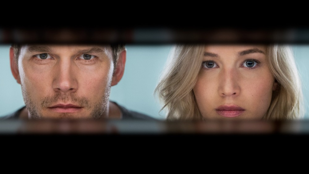 image of passengers movie jennifer lawrence and chris pratt