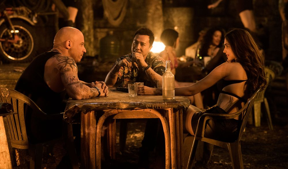 image of Vin Diesel Deepika Padukone and Donnie Yen in xXx Return of Xander Cage movie