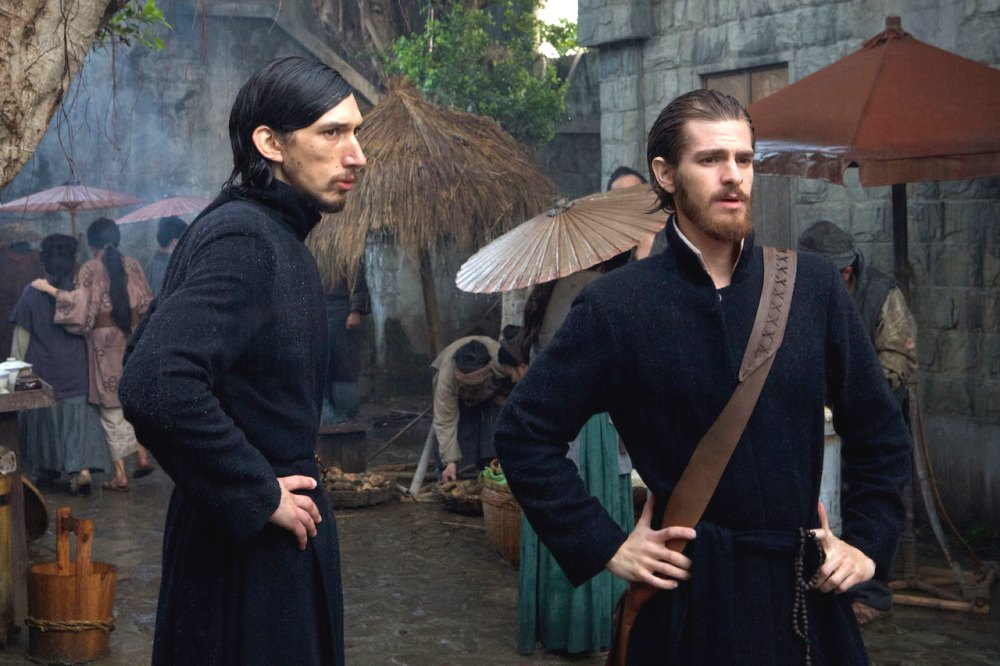 still from silence movie andrew garfield and adam driver