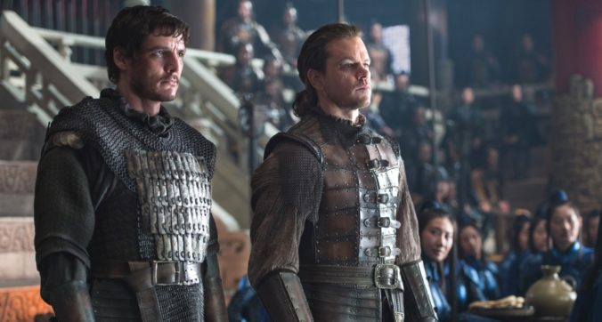 matt damon and pedro pascal in the great wall movie