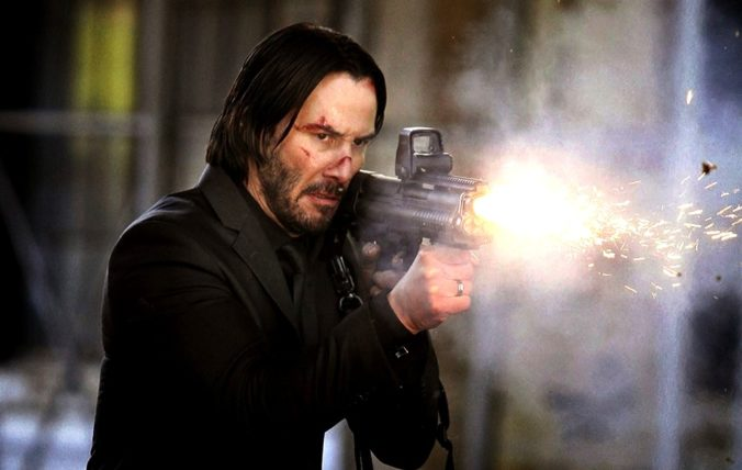 still of Keanu Reeves in John Wick Chapter 2 movie