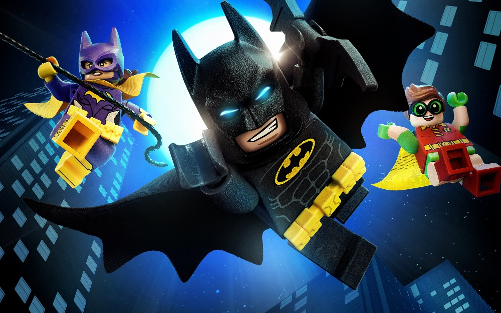 batman batgirl and robin in the lego batman movie