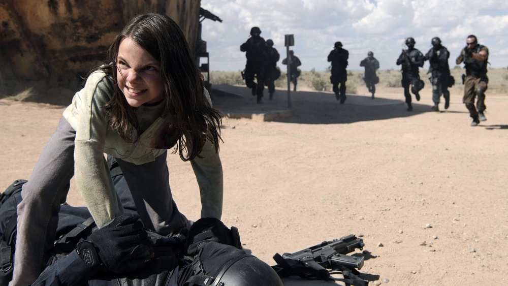 still of Daphne Keen as X-23 Laura Kinney in Logan Movie