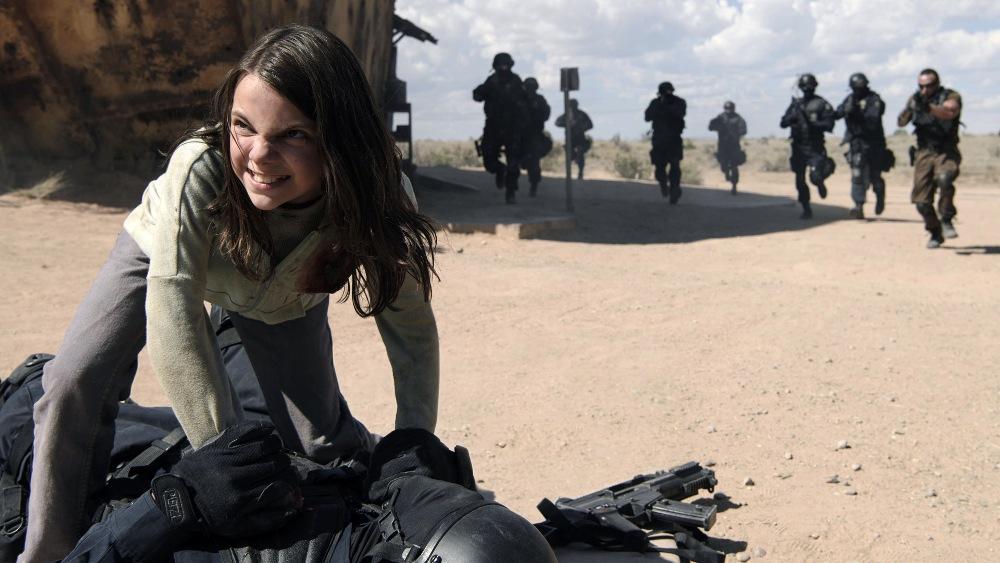 still of Daphne Keen as X-23 Laura Kinney in Logan Movie