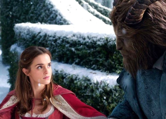 still of Belle and Beast in Beauty and the Beast