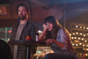 Colossal Movie Wallpaper Jason Sudeikis and Anne hathaway