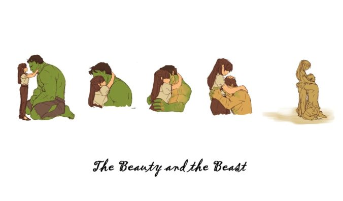 The Beauty and the Beast Hulk and Betty Ross art