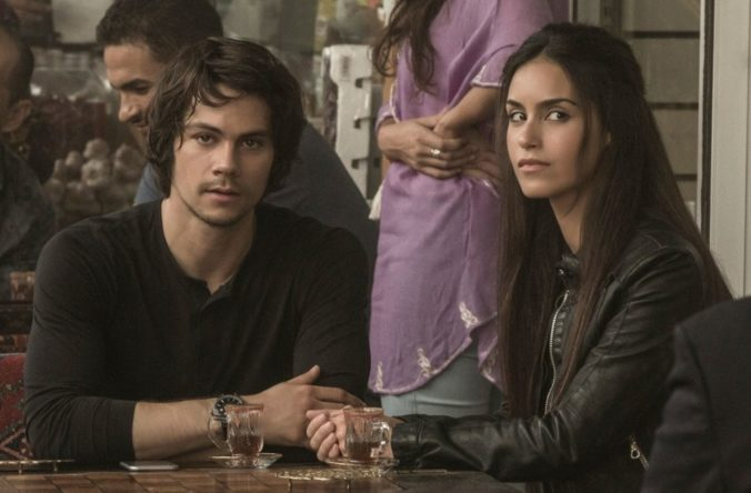 still of Annika and Mitch from American Assassin