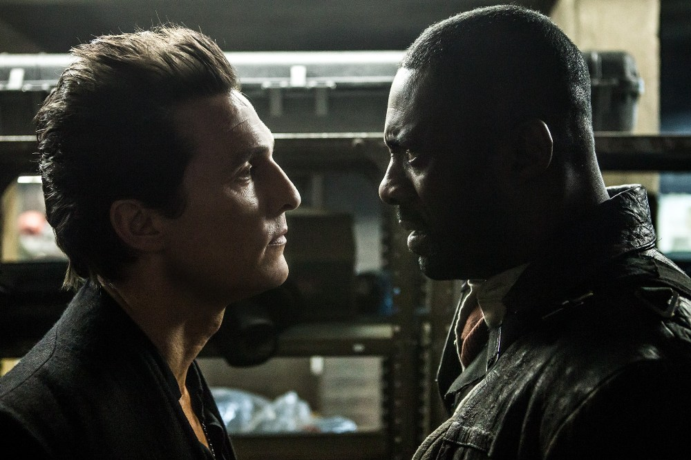 The Dark Tower movie still Idris Elba and Matthew McConaughey