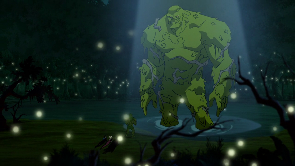 still of Swamp Thing in Batman and Harley Quinn