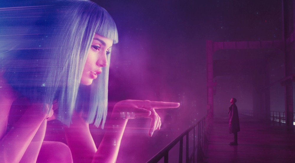 Blade Runner 2049 movie still of Joi and Joe