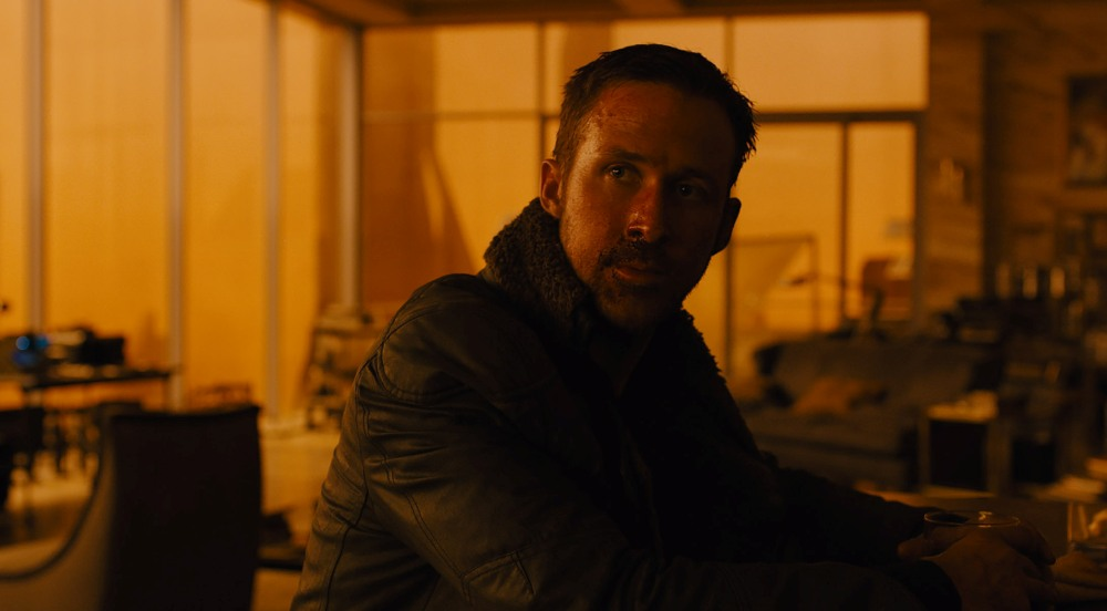 K played by Ryan Gosling in Blade Runner 2049