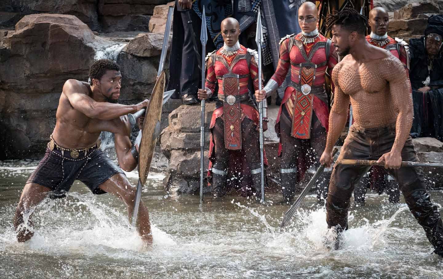Black Panther fight still T'challa vs Eric Killmonger