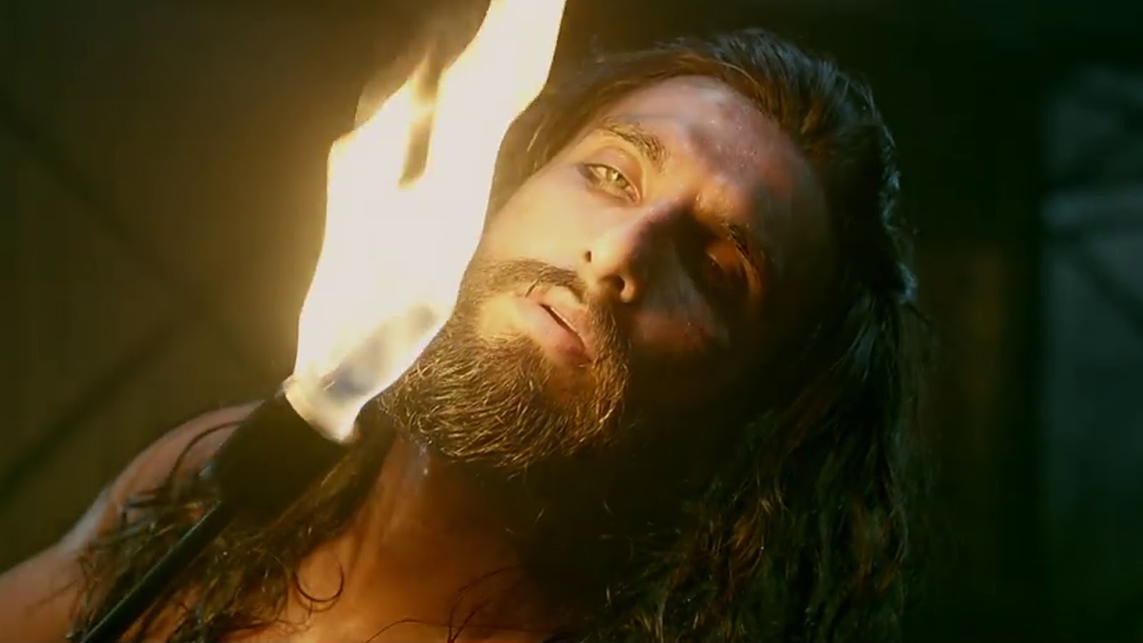 still of Ranveer Singh as Khilji in Padmaavat movie