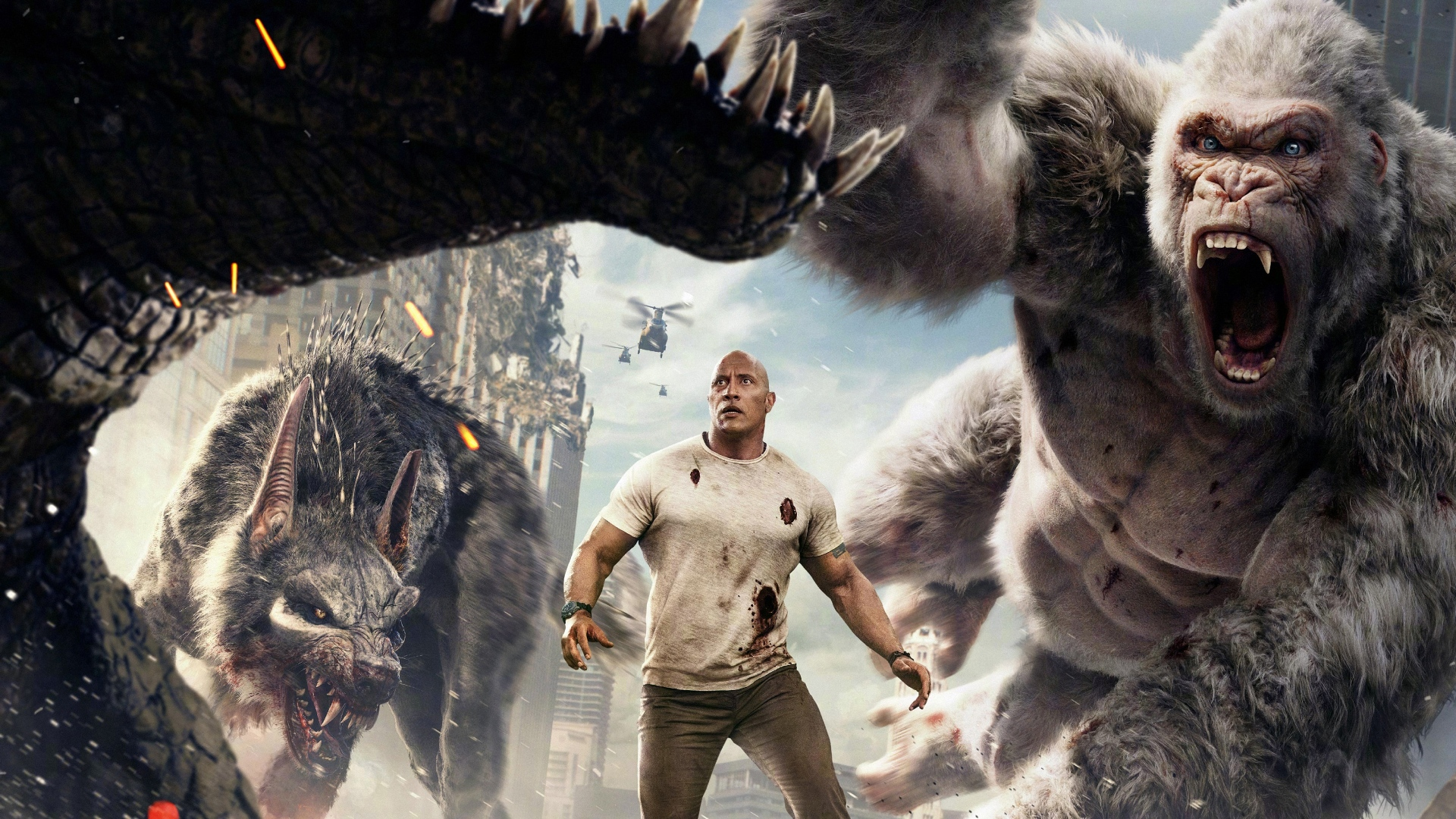 Rampage movie wallpaper