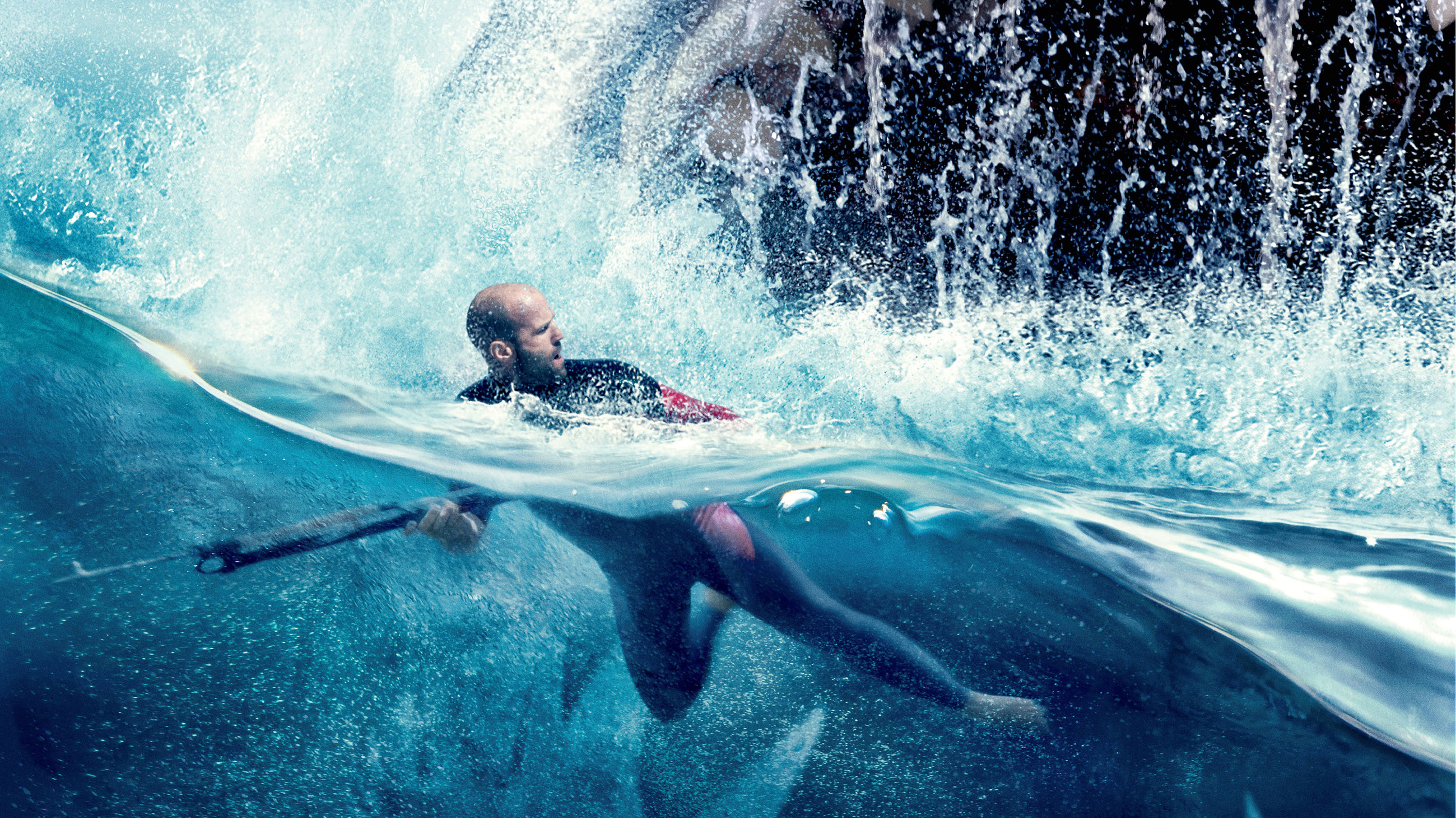 still of Jason Statham in The Meg movie
