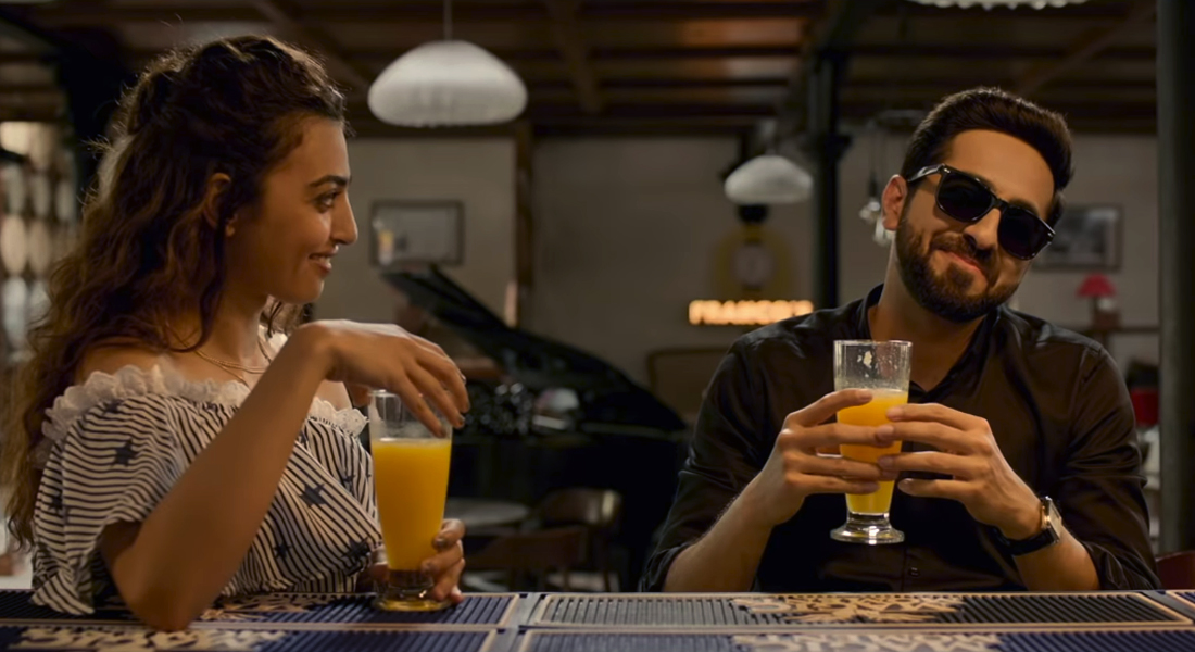still of Ayushmann Khurrana and Radhika Apte in Andhadhun