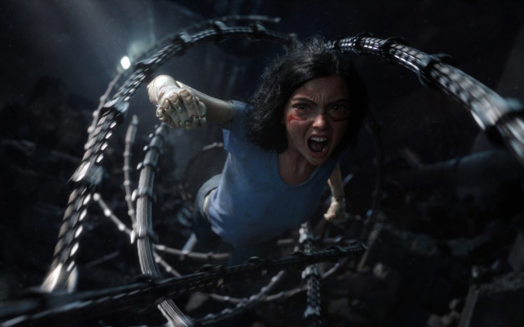 alita battle angel fighting scenes