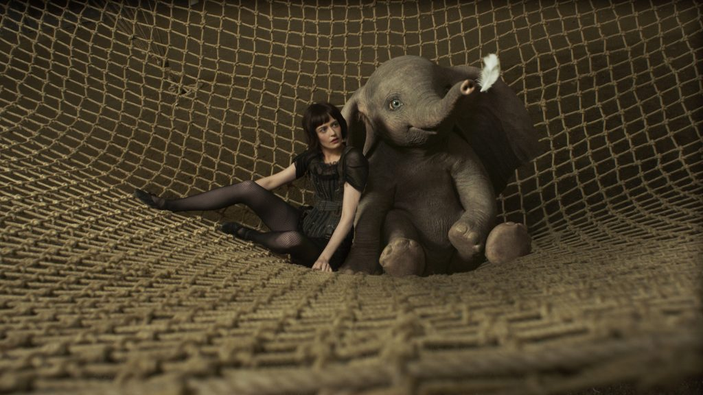 Eva Green and Dumbo movie Elephant