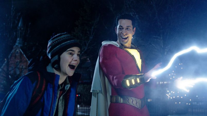 shazam movie electricity wallpaper