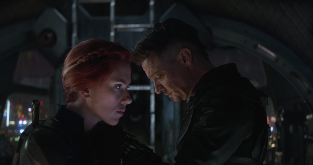 Natasha and Clint in Avengers movie