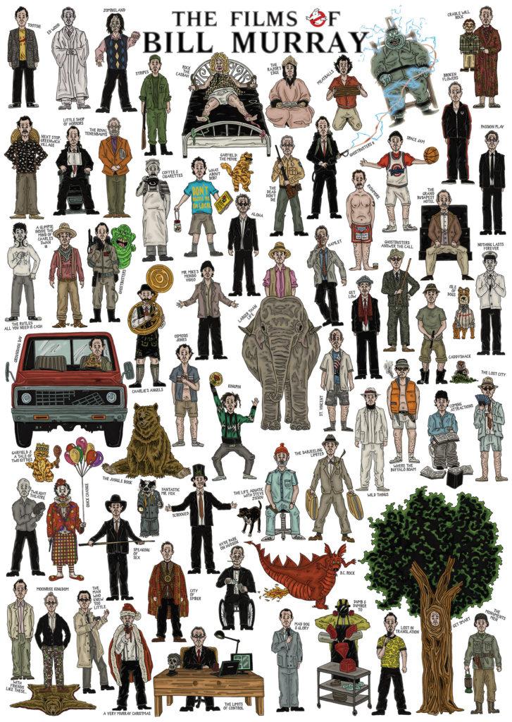 The Films of Bill Murray illustration by John Rooney