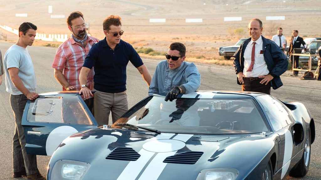 The whole gang in Ford v Ferrari movie